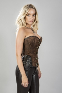 Warrior corset brown brocade