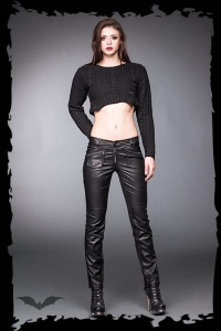 Frontside leather look pants