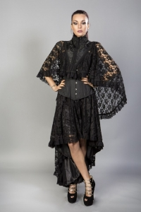 Draconia cape black brocade