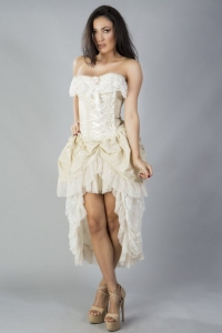 Elizabeth dress cream taffeta