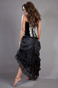 Elvira skirt black taffeta