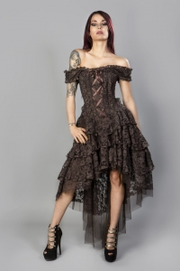 Ophelie dress brown lace