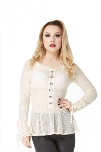Cream lace shirt