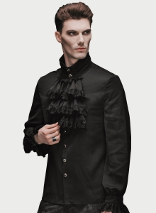 Lestat ruffle shirt black
