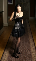 Lolita dress black satin