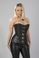 Warrior corset black taffeta