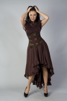 Elizium skirt brown chiffon
