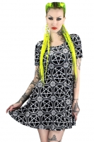 Pentagram velvet skater dress