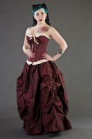 Ballgown skirt burgundy