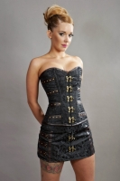 C-Lock corset black scroll
