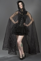 Cape black organza
