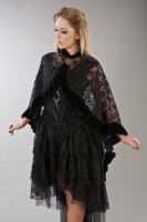 Catherine cape black lace