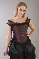 Duchess corset red scroll