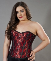 Elegant red lace overlay