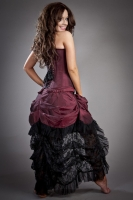 Elvira skirt burgundy taffeta
