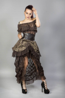 Elvira skirt gold brocade