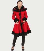 Macaron red winter coat