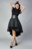 Julia skirt black taffeta