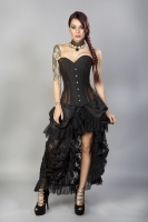 Morgana corset brown taffeta