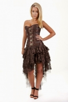 Ophelie skirt brown lace