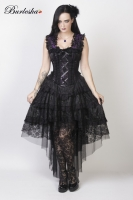 Ophelie dress purple brocade