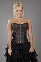Rock corset brown brocade