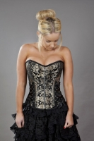 Rock corset gold brocade