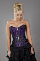 Rock corset purple brocade