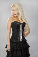 Vintage corset black scroll